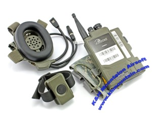 Conjunto completo de PRR con auricular, radio y PTT