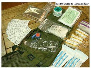 Imagen de un kit medico de Tasmanian Tiger