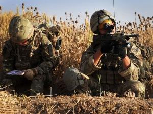 Miembros del 30 Commando durante la Operación Herrik