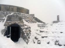 Panorama que ofrece el búnker en invierno