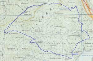 Mapa de la ruta de La Jarosa hasta Cabeza Lijar