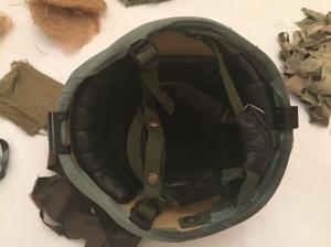 El interior del casco, con el barbuquejo y el kit de confort es infinitamente más cómodo que el del Mk6. @ 30 Commando Madrid