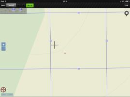 Vista topográfica del mismo objetico con marcación final.